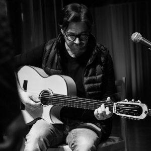 Al di Meola plays his custom built Scharpach flamenco guitar