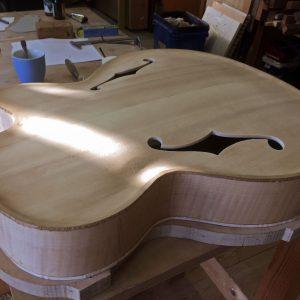 custom built archtop guitar, Opus108