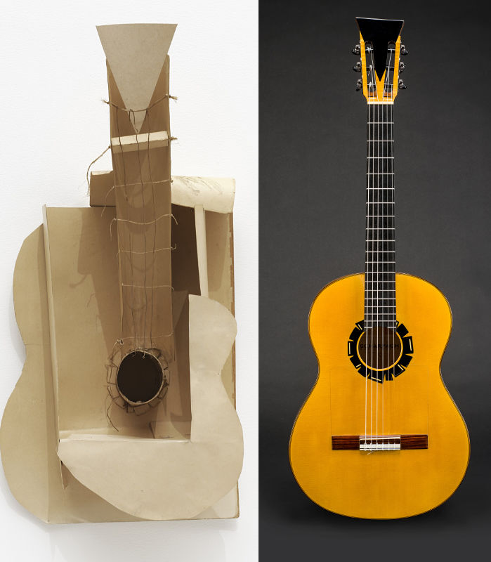 bespoke flamenco guitar inspired by Picasso