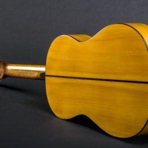 backside of custom made flamenco guitar 1912 by Scharpach