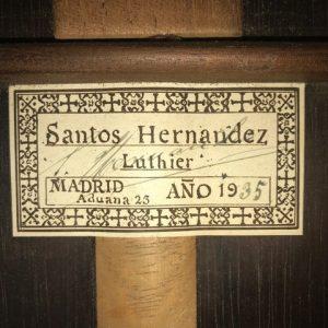Luthier Santos Hernandez, Guitar from 1935