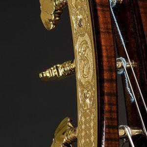 Detail of Vienna Archtop Guitar, custom built by Scharpach
